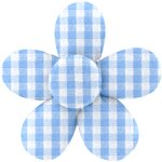 Mini flower hair slide sky blue gingham - PPMC