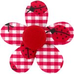 Mini flower hair slide ladybird gingham - PPMC