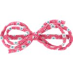 Arabesque bow hair slide small flowers pink blusher - PPMC