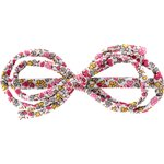 Barrette noeud arabesque jasmin rose - PPMC