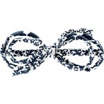 Barrette noeud arabesque scandinave marine - PPMC