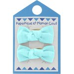 Small bows hair clips azur - PPMC