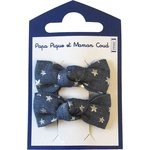 Small bows hair clips etoile argent jean - PPMC