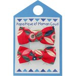 Small bows hair clips paprika petal - PPMC
