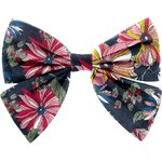 Bow tie hair slide pink blue dalhia - PPMC