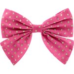 Bow tie hair slide fuchsia gold star - PPMC