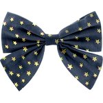 Bow tie hair slide navy gold star - PPMC