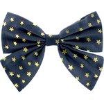 Pasador lazo mariposa estrella de oro azul marino - PPMC