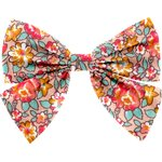 Bow tie hair slide peach flower - PPMC