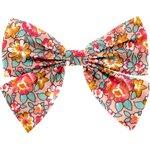 Barrette noeud papillon floral pêche - PPMC