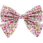 Barrette noeud papillon jasmin rose - PPMC
