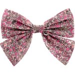 Barrette noeud papillon lichen prune rose - PPMC