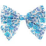 Bow tie hair slide azure mini flower - PPMC