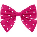Bow tie hair slide fuschia spots - PPMC