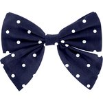 Bow tie hair slide navy blue spots - PPMC
