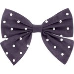 Bow tie hair slide plum spots - PPMC