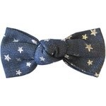 Small bow hair slide silver star jeans - PPMC