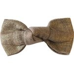 Small bow hair slide gold linen - PPMC