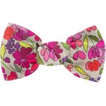 Small bow hair slide purple meadow - PPMC