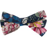 Ribbon bow hair slide pink blue dalhia - PPMC