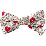 Ribbon bow hair slide red flower - PPMC
