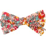 Ribbon bow hair slide peach flower - PPMC