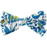 Ribbon bow hair slide blue forest - PPMC