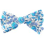 Ribbon hair slide azure mini flower - PPMC