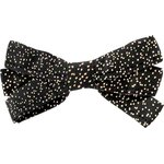 Ribbon bow hair slide noir pailleté - PPMC
