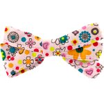 Ribbon bow hair slide pink meadow - PPMC