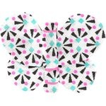 Butterfly hair clip neon shards - PPMC