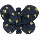 Butterfly hair clip navy gold star - PPMC