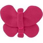 Barrette petit papillon fuchsia - PPMC