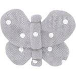Butterfly hair clip light grey spots - PPMC
