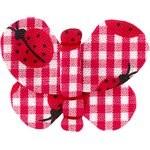 Pasadores de mariposa cuadros vichy rojo y mariquitas - PPMC