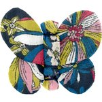 Butterfly hair clip pink blue dalhia - PPMC
