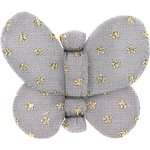 Butterfly hair clip etoile or gris - PPMC
