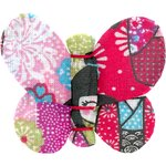 Butterfly hair clip kokeshis - PPMC