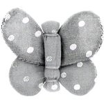 Butterfly hair clip silver grey spots - PPMC