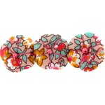 Pumpkin hair slide peach flower - PPMC