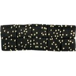 Small pleated hair slide noir pailleté - PPMC