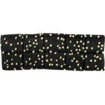 Petite barrette plissée noir pailleté - PPMC