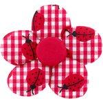 Small flower hair slide ladybird gingham - PPMC