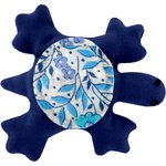 Small turtle hair slide azure mini flower - PPMC