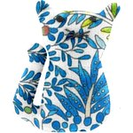 Small cat hair slide blue forest - PPMC