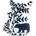 Petite barrette chat scandinave marine - PPMC