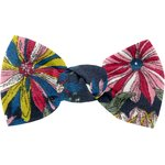 Small bow hair slide pink blue dalhia - PPMC