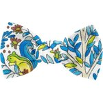 Small bow hair slide blue forest - PPMC