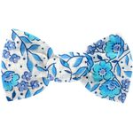 Small bow hair slide azure mini flower - PPMC