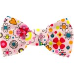 Small bow hair slide pink meadow - PPMC